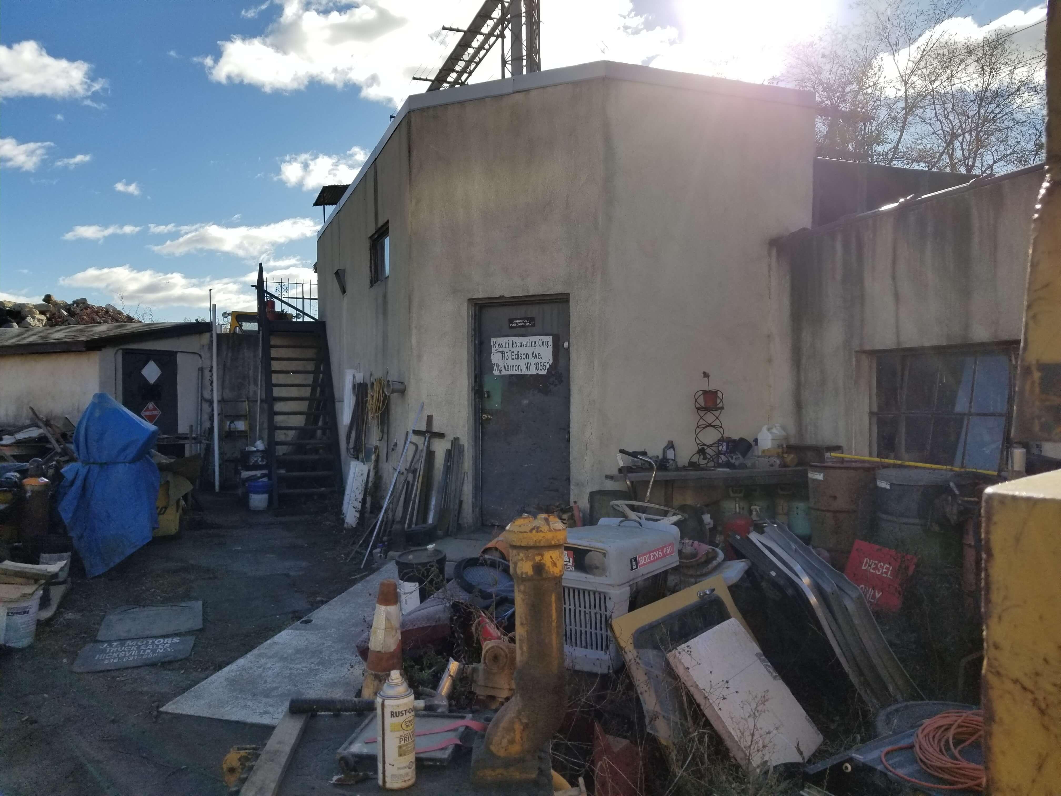 ... Storage Building In Back Lot ...